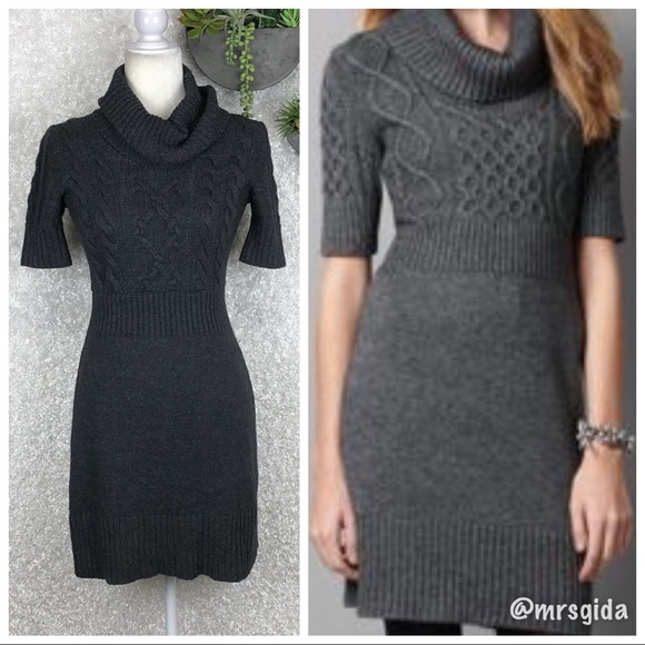 LOFT Dresses & Skirts - LOFT Cable Knit Cowl Neck Sweater Dress | XS